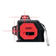 Xeast 12 lines red beam 360 degree cross line laser level 3D wall sticking instrument
