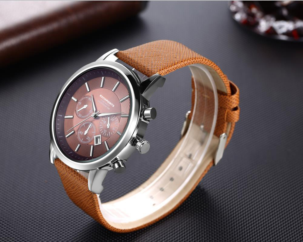 Decorative Small Three-Needle Men's Leisure Belt Watches Calendar Business Classic Winner Watch Man Wrist