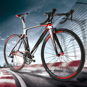 Chinese suppliers oem high quality low cost 22speed 700C superlight aluminum alloy road bike with full carbon fork