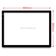 Emeno A3 LED Light Boxes Tracing Board Acrylic Panels Animation Cartooning Handwriting Black Board