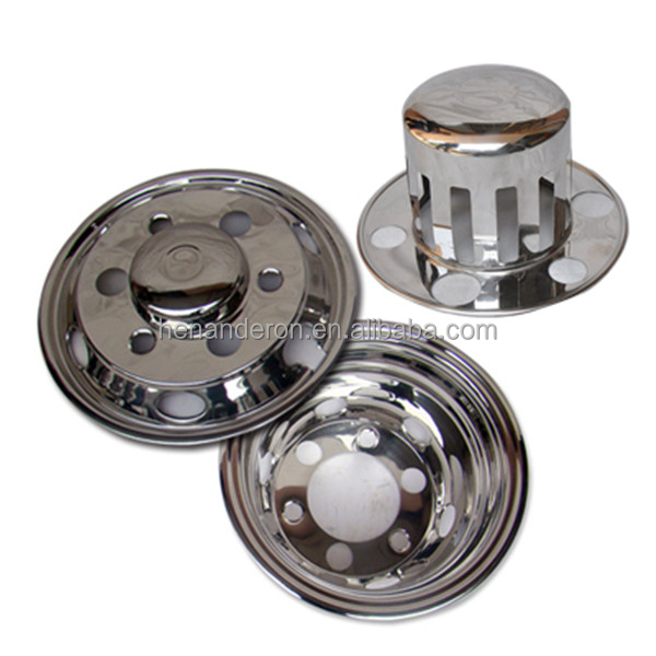 17 S/S truck chrome wheel cover,truck parts accessories
