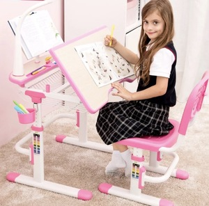 Kids Desk and Chair Set Height Adjustable Children's Study Table