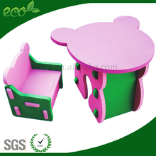 EVA foam children chair and play desk,light chair and table for kids in kindergarten