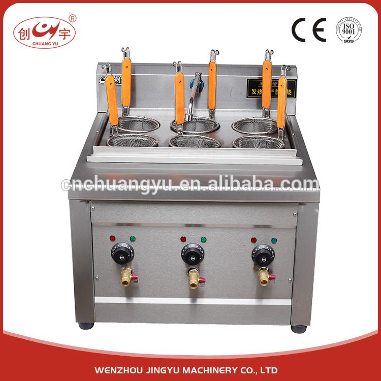 Chuangyu Fashional Style 110V/60HZ Stainless Steel Italy Noodle Cooking Machine Commercial Pasta Cooker
