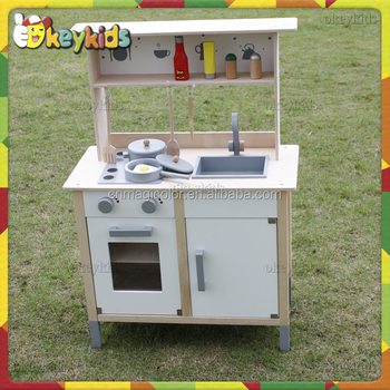 2016 wholesale children wooden toy kitchen sets diy baby for Cheap childrens kitchen sets