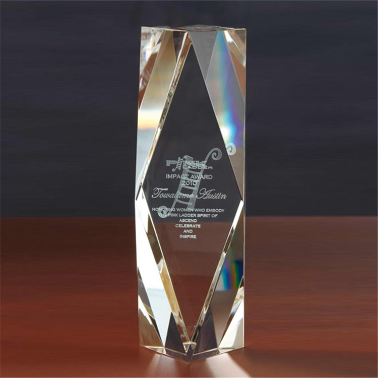 Custom Design Unico Piccolo Chairmans 3D Crystal Award