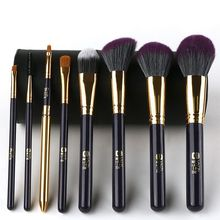 Luxury Good Make-up Brush With Makeup Holder 3 Kinds Of Different Colors 8 piece personalised makeup brush set