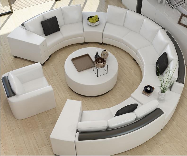 Luxury Sofa Star Hotel Lobby Round