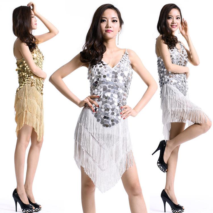 41e0144ad2f08 Buy Sequins Fringe Tassel Latin Dance Dress for Women Performance Samba  Latin Salsa Dresses Competition Ballroom Costumes L056 in Cheap Price on  Alibaba.com