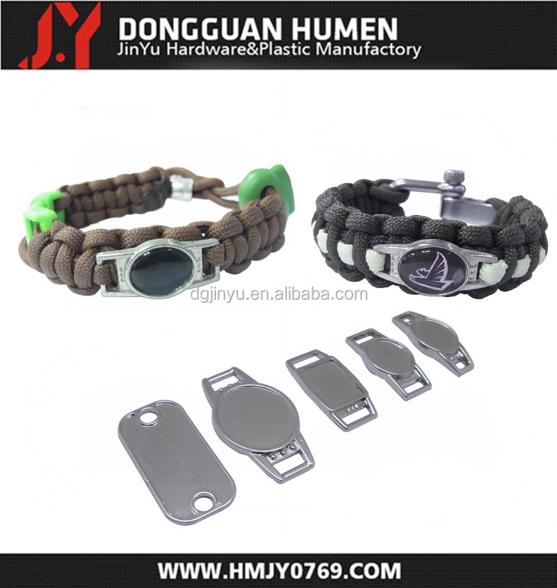 Jinyu Paracord Bracelet Name Tag Decorative Metal Plates