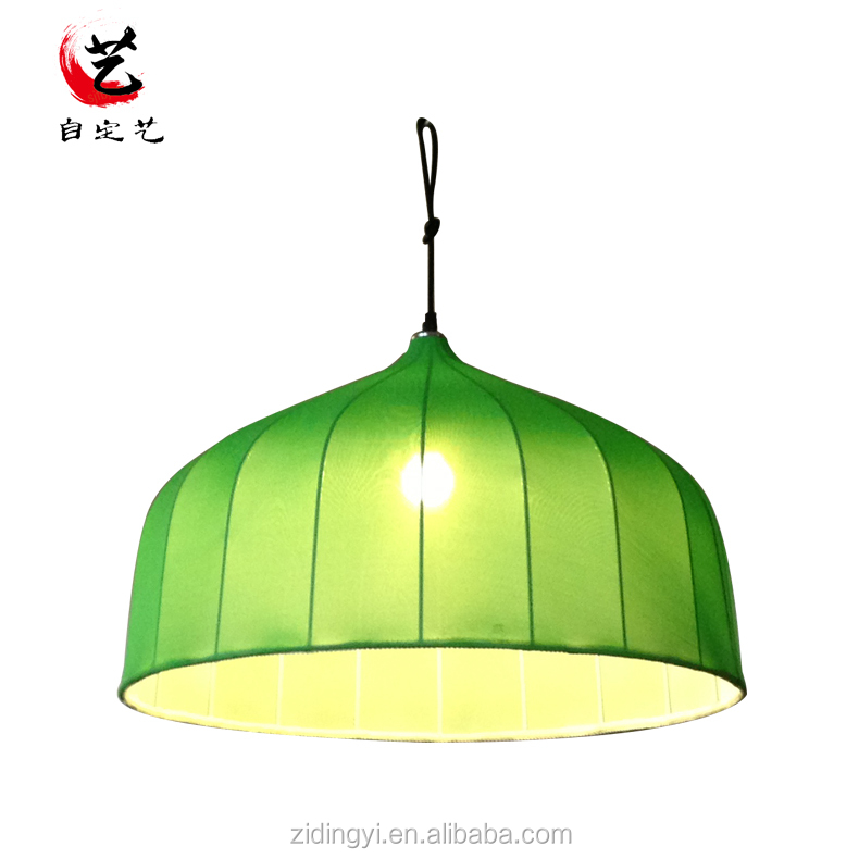 2017 Cloth led green lamp cover pendent lamp