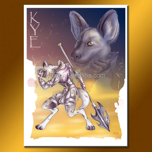 wholesale top quality game Knight of Jackal Egypt oil painting for wall