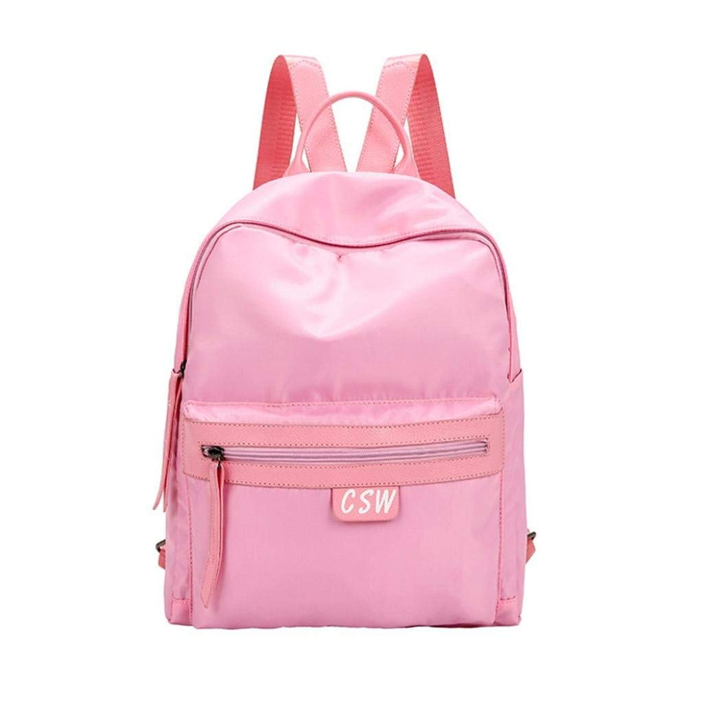 Women's Fashion Backpack Oxford Solid School Bags Casual Daypacks Outdoor Sports Rucksack Travel Backpack Bag