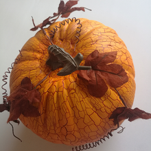 Halloween decoration artificial pumpkin with leaves