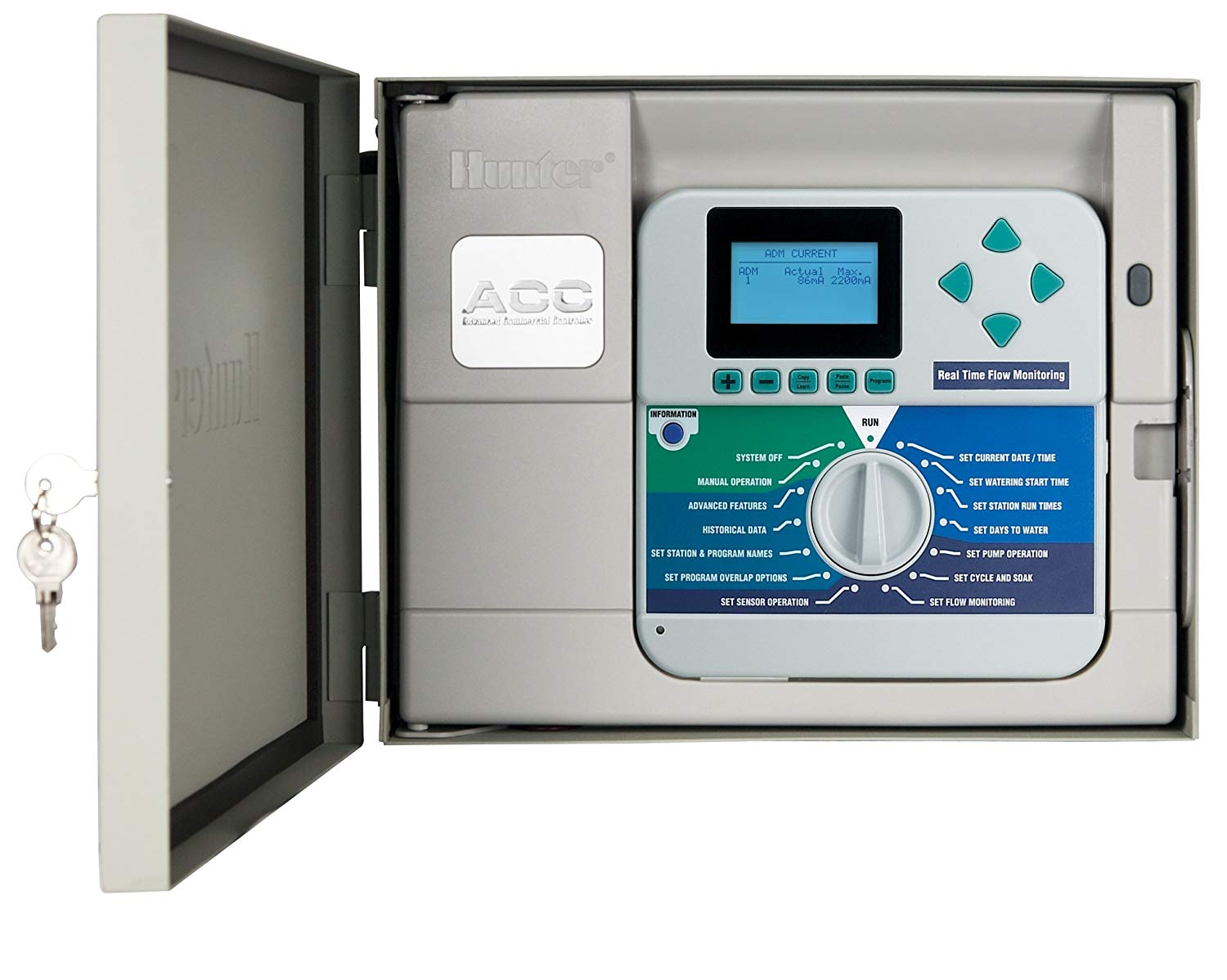 Hunter Sprinkler ACC99D 2-Wire Decoder Irrigation Controller with 99 Station Capacity with Metal Cabinet