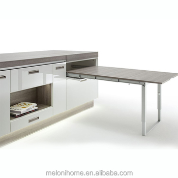 Custom made Expand Kitchen Island with Drawer White Extendable Dining  Table, View cheap kitchen island, Meloni house Product Details from  Guangzhou ...