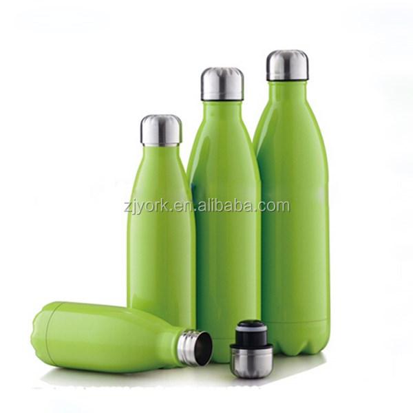 Yeşil Renk Boyama Gümüş Kapak Gıda Sınıfı çift Duvar Paslanmaz çelik