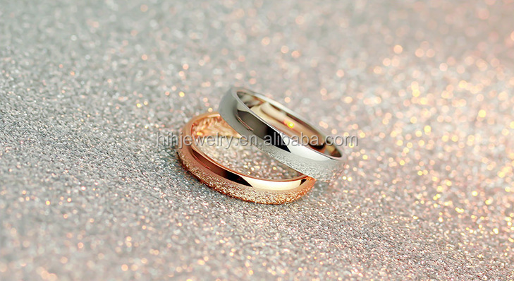 Simple Wedding Ring Sets Gold Plated Rings Without Stones Classic