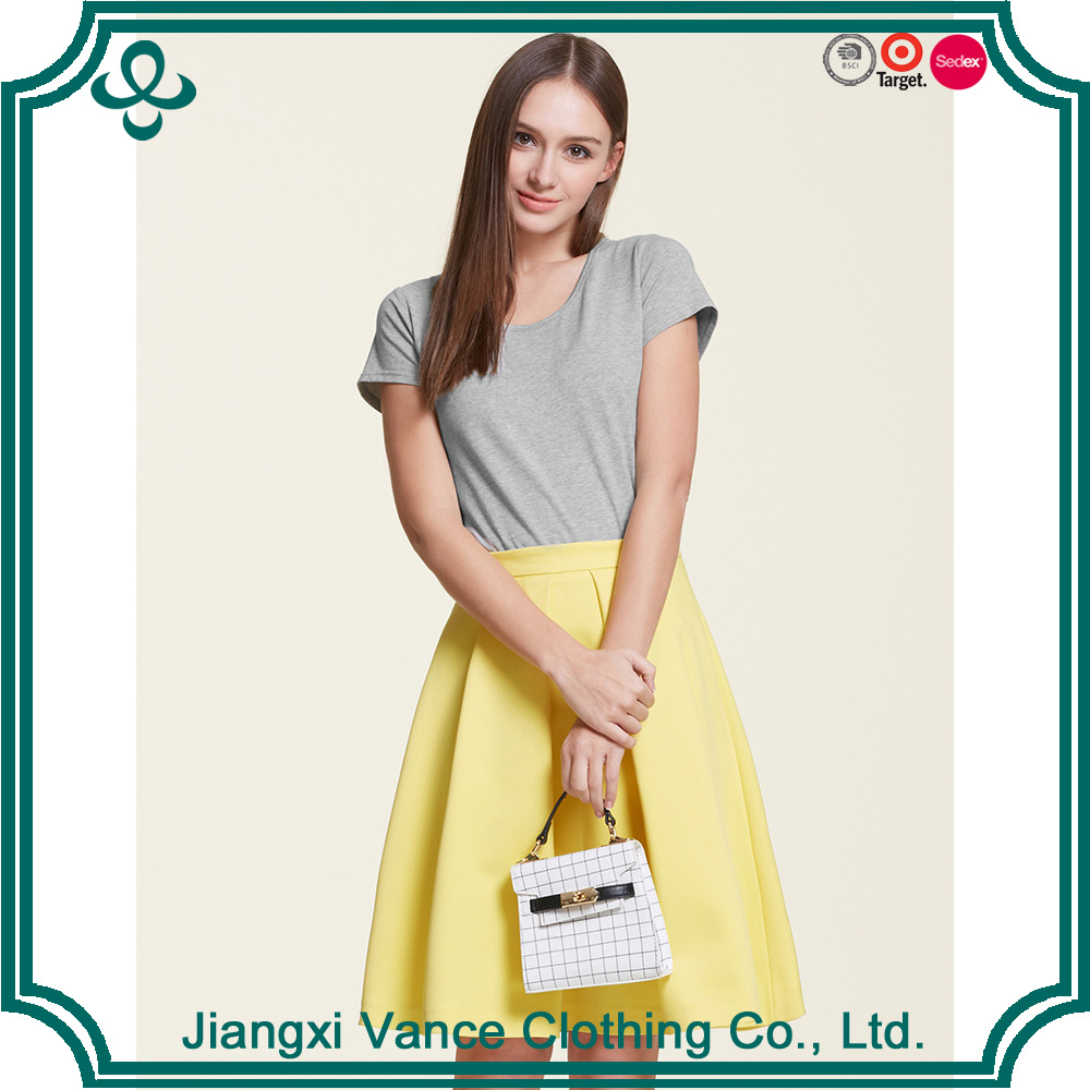 2017 Vance Summer Hot Sale Casual 180g 100% Cotton Short Sleeve O-Neck Blank Gray T-shirt Manufactures In Nanchang