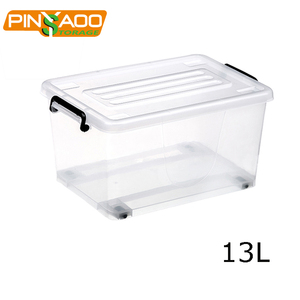 Pinyaoo Storage 13L Household Large Colorful PP Security Plastic Box For Storage