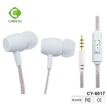 wired headphone 100% original white earbud handsfree earphone with volume control
