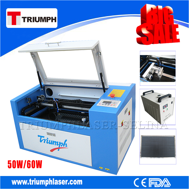 Portable cnc co2 wood bamboo crafts / acrylic / screen protector mini laser cutting machine price 6040