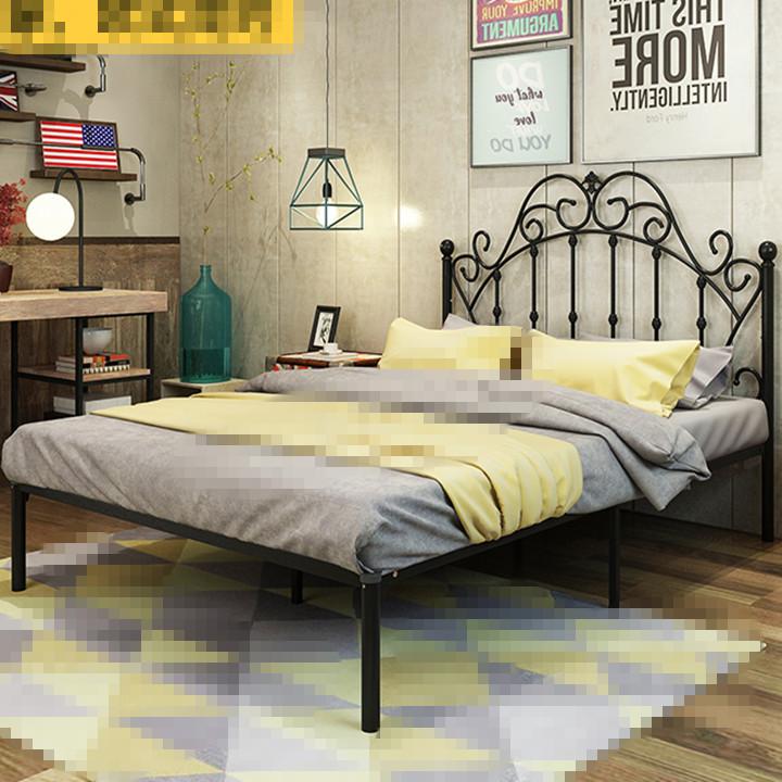Buy Bed Frame Black King Size Wrought Iron Bed Frame Metal Modern