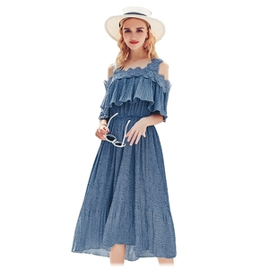 BK- cheap wholesale elegant female young women summer wear dress for ladies summer dresses for european italian lady