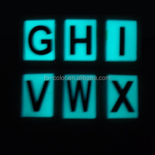 Custom Glow in the Dark Fluorescent Alphabet Sticker