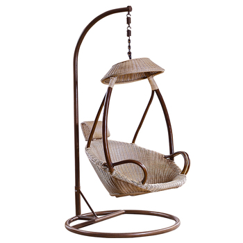 Exclusive Stylish Lantern Shape Rattan Wicker Cane Bamboo Wooden Egg Shaped Swing  Chair