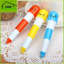 Creative Stationery Cute Smiling Face Pill Ballpoint Pen