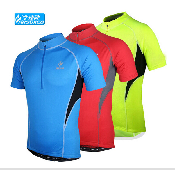 1f54c8094 Get Quotations · 2015 ARSUXEO Sports Brand Running Cycling Jersey Bike  Bicycle Short Sleeves MTB Clothing shirts wear.