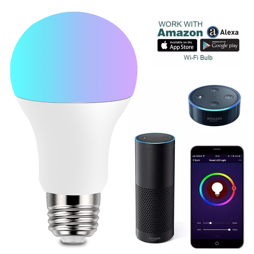 The Third Generation E27 Base RGBW Dimmable Wifi Smart LED Light <strong>Bulb</strong>