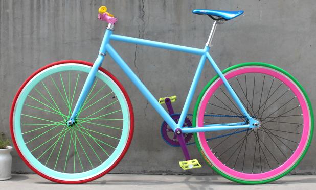 Nuevo dise o de bicicleta de manivela colores para pintar for Disenos para bicicletas