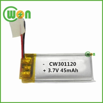 3.7v Rechargeable Lithium Polymer Battery 301120 For Headphone ...