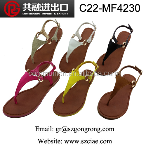 2018 latest fashion wedge heel lady shoes,sexy flip-frops sandals for women