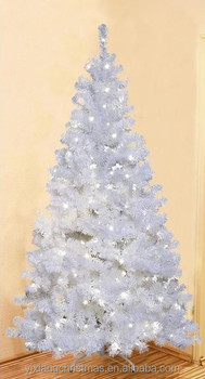 1230tips210cm white pvc christmas tree led warm white light 260 led christmas tree white