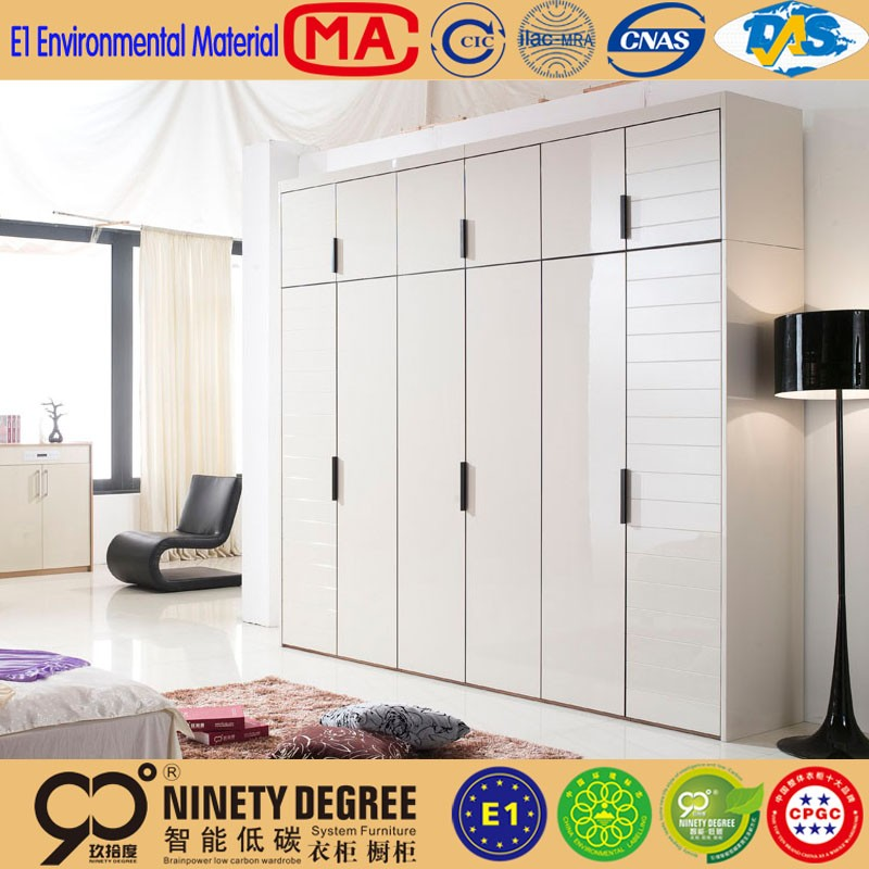 Chinese Style White Lacquer Or Acrylic Almirah Bedroom Furniture Up To American  Standard