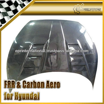 For Hyundai Veloster Turbo Gamma Carbon Fiber Vented Hood Bonnet