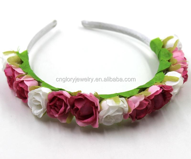 high quality flower hairband popular/fancy headbands for girls, Beautiful flower