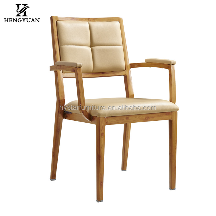 Hot sell upholstered stackable aluminium dining room chair hotel luxury dining chair