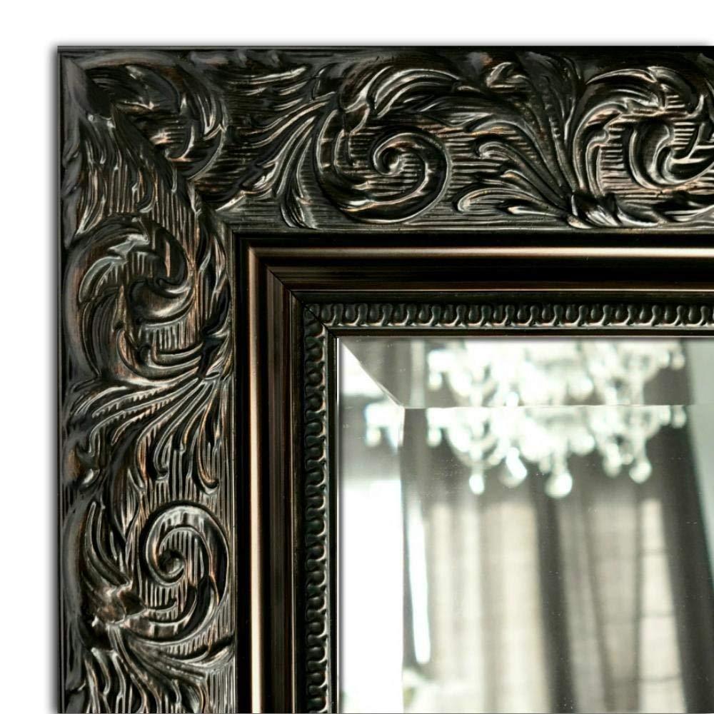 "West Frames Bella Ornate Embossed Framed Wall Mirror (28.25"" x 52.25"", Antique Bronze)"