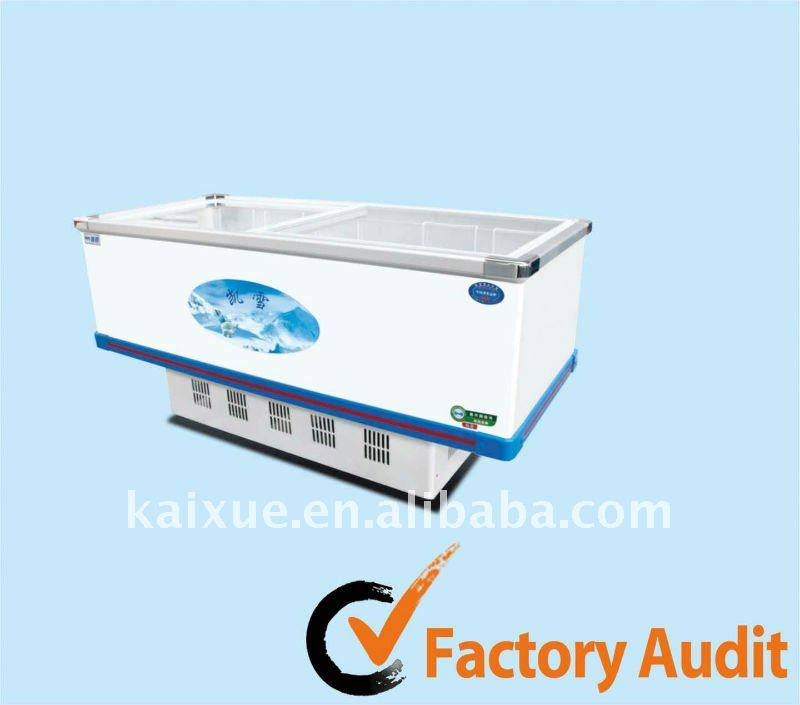 Super large capacity island freezer for dumpling,fish ball and other frozen food
