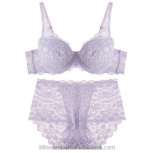 Teenage girl lace cotton bra set