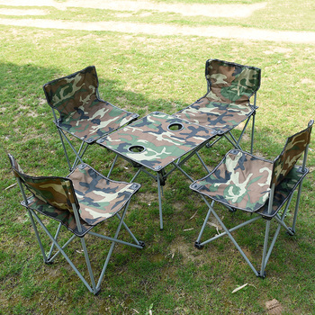 Awe Inspiring Outdoor Portable Folding Tables Chairs Camouflage Five Piece Sets Leisure Self Driving Camping Combo Small Chair Buy Foldable Table Foldable Theyellowbook Wood Chair Design Ideas Theyellowbookinfo
