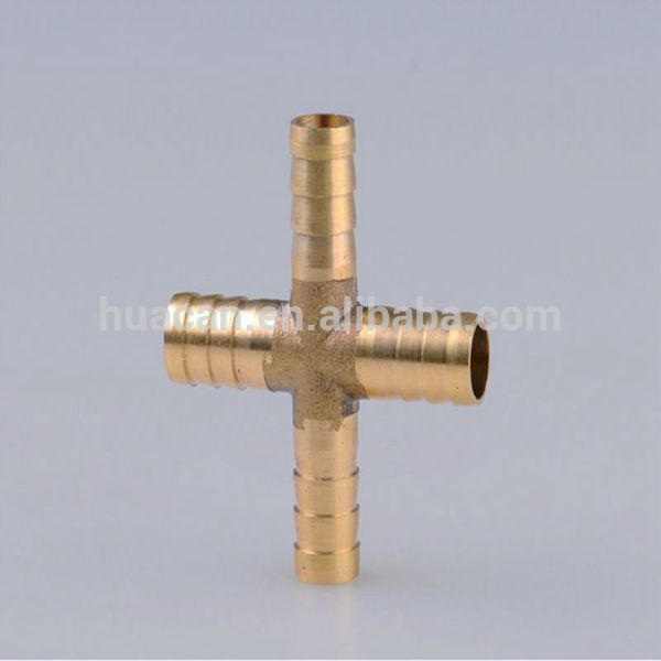Way brass cross fitting pex pipe for pvc