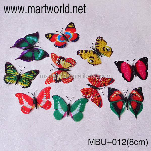 8cm multi color butterfly use for wedding decoration party decoration wedding decoration (MBU-012)