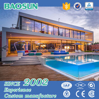 Customized china prefabricated homes prefabricated apartment building with glass
