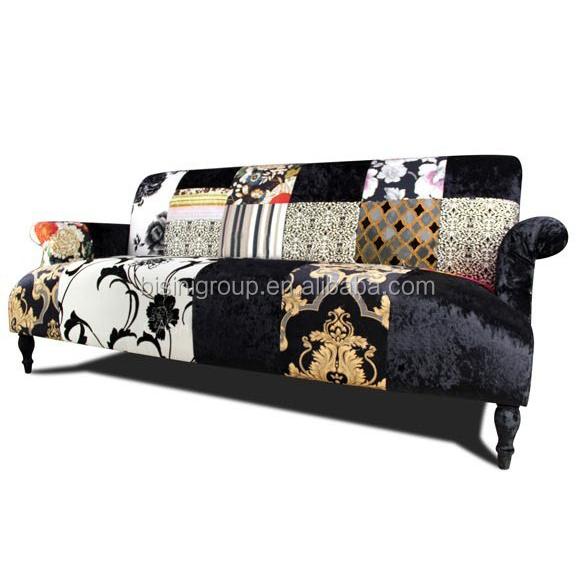mordern espagnol style patchwork canap 3 places canap bf11 0624a canap salon id de produit. Black Bedroom Furniture Sets. Home Design Ideas