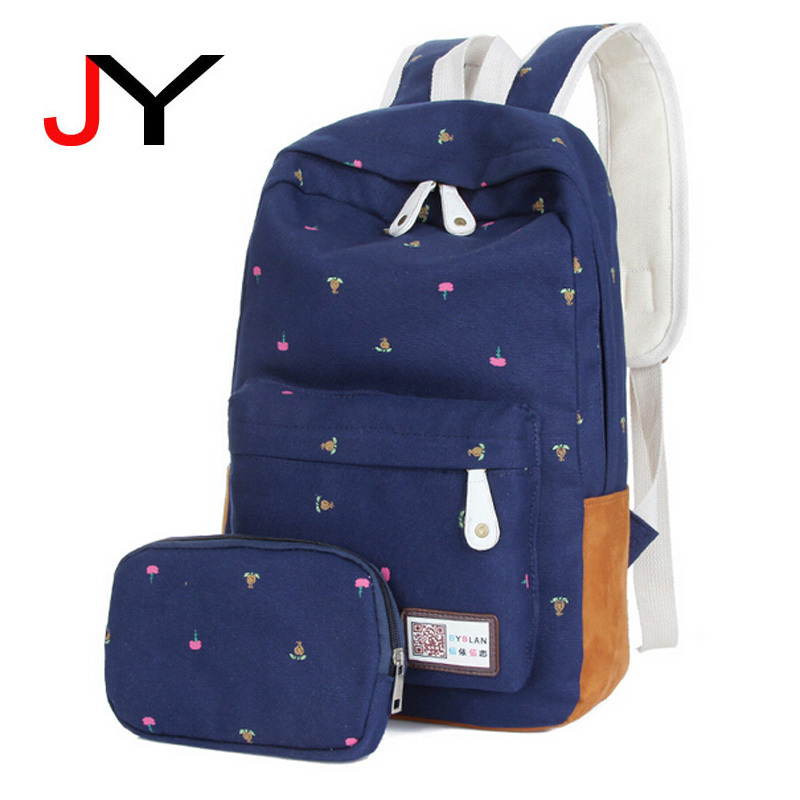 6d4566468738 Buy BWC020 Genuine Quality Floral Leather Canvas Bag Backpack School for Teenager  Girl Laptop Bag Printing Backpack Women Backpack in Cheap Price on ...
